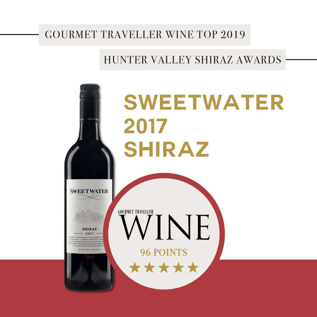 SWEETWATER ESTATE 2017 SHIRAZ AWARDED 96 POINTS & FIVE STARS!